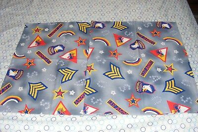 "2 VTG 18"" x 22"" Pillow Tops US Army/Airborne/42nd Division/1st Armored+ Insignia"