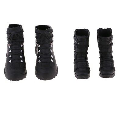 2 x 1/6 Man Fashion Ankle Boots for 12'' Action Figure Phicen Kumik Hot Doll
