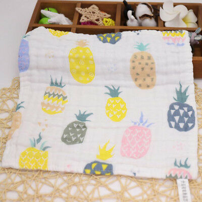 Baby Kids NewBorn Gauze Muslin Cotton Bath Wash Handkerchief Towels 28x28cm