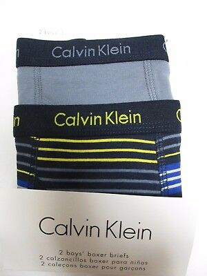 Calvin Klein 2-pack boys boxer briefs sz Small 6 / 7 new in package!