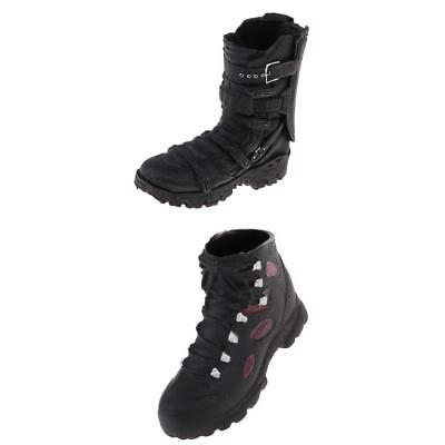 1:6 Scale Man Soldier Hiking Shoes Black for 12'' Phicen Kumik Accessories