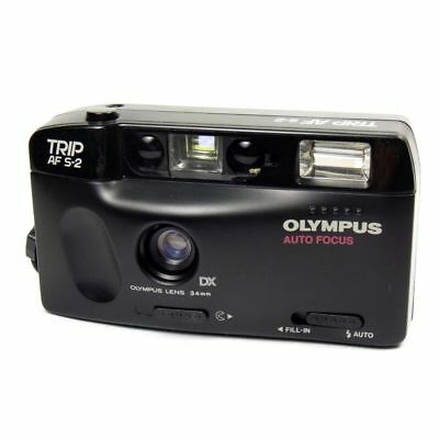 Olympus Trip AF-S2 Vintage Compact 35mm Point & Shoot Film Camera in Black