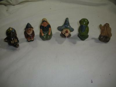 6 Different Tiaquepaque Mexico Pottery Figural Shakers / LOOK!