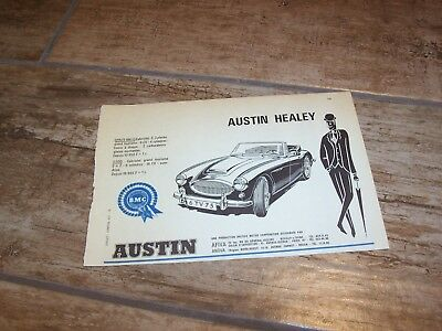 Publicité magazine /  Advertising AD  AUSTIN HEALEY 1966 //