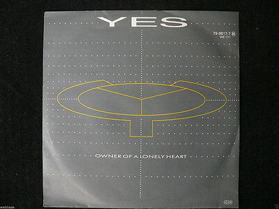 Yes - Owner Of A Lonely Heart  VinylSingle 7 Zoll