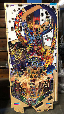 IRON MAIDEN PRO Stern Pinball Game Playfield #5082 - Production Defect