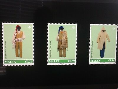 2018 Malta  Traditional Costumes 2018 set of three stamps Mint NH VFSG2006/2008