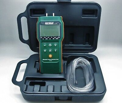 Extech PS106 Differential Pressure 6psi Manometer & Travel Case