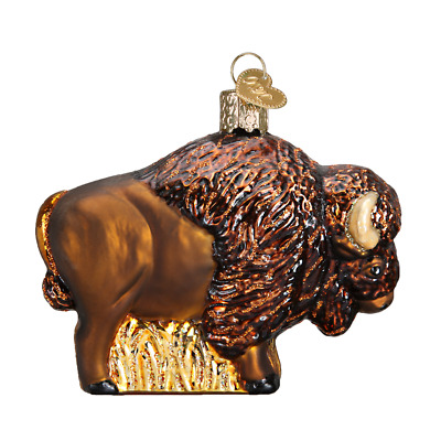 """Buffalo"" (12131)X Old World Christmas Glass Ornament w/ OWC Box"