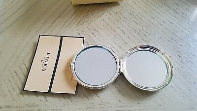 100% Authentic Links of London Silver Plated  Compact Mirror Handbag