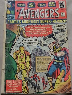 THE AVENGERS #1 (MARVEL, 1963)The origin and 1st appearance of the Avengers.
