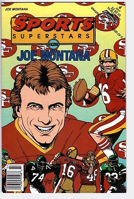 1992 Sports Superstars Comic Book Joe Montana San Francisco 49ers Greg Fox NFL