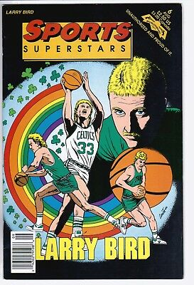 1992 Comic Book Sports Superstars #6 Larry Bird Boston Celtics Basketball NBA