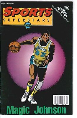 1992 Comic Book Sports Superstars #3 Magic Johnson LA Lakers Basketball NBA