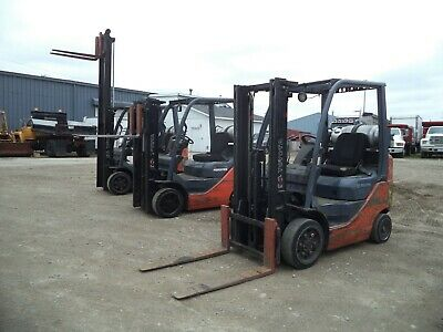 "2008-2011 Toyota Model 8FGCU20, 4,000#, 4000# Cushion Tired Forklift, 118"" Lift"