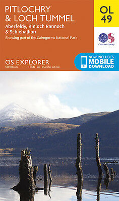 PITLOCHRY, LOCH TUMMEL Map - OL 49 - OS - Ordnance Survey  INC. MOBILE DOWNLOAD