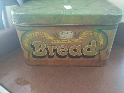 Vintage TIN BREAD BOX. Better-Baked Brand. 1977-1978. Classic TIN.  41 yrs. old