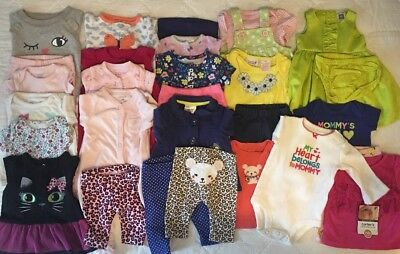 EUC Adorable Baby Girls Fall/Winter CLOTHES LOT Outfit Sets Newborns Lot # 1