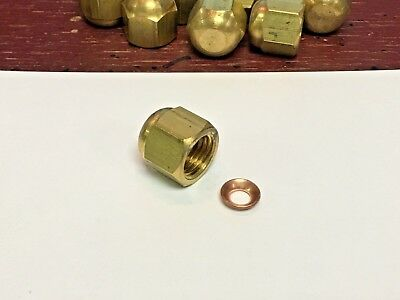 Refrigeration, Air Conditioning, Service Valve Cap, With Copper Gasket, 1/4""