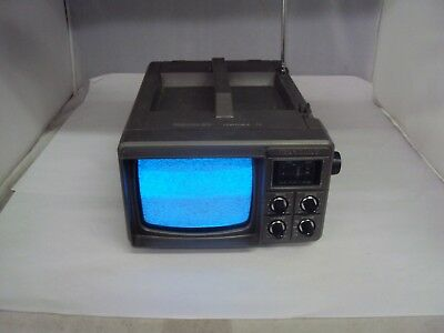 Vintage Bentley Portable Black And White  TV  Works   B-702