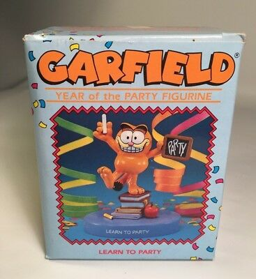 Vintage Garfield the Cat Year of the Party Figurine NRFB