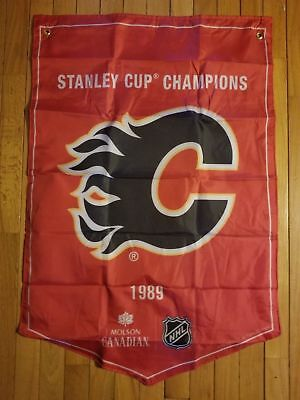 Molson Canadian Coors Light Stanley Cup Winner Banner Flags Calgary Flames