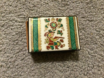 Vintage Antique Copper/Brass Match Box Holder W/Box of Matches-Excellent!!!
