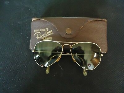 Vintage Ray Ban Aviator Sun Glasses Marked Ray Ban on the Bridge Original
