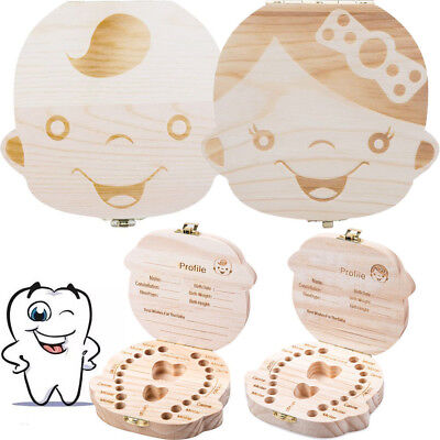 Hot Tooth Box organizer for baby Save Milk teeth Wood storage box for kids BL