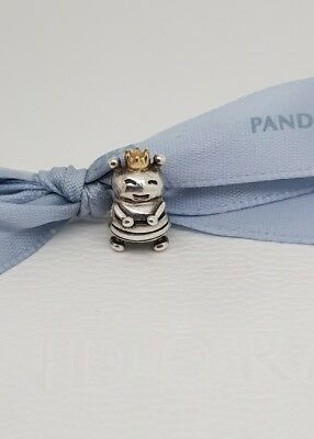 Authentic Pandora Silver & 14k Gold Two Tone Queen Bee Charm 790227