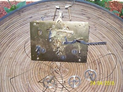 PEARL CABLE DRIVEN TRIPLE CHIME Grandfather Clock movement for parts or repair