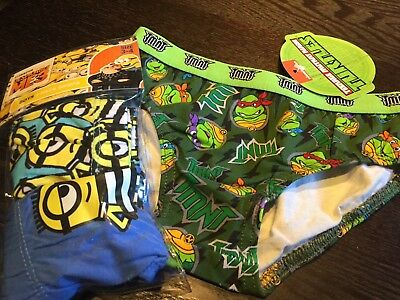 Bundle Deal Value Minions & Ninja Turtles boys briefs/ undies Size3-4.