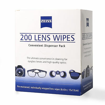 ZEISS Lens Cleaning Wipes 200CT Eye Glasses Optical Camera Phone Cleaner Cloth