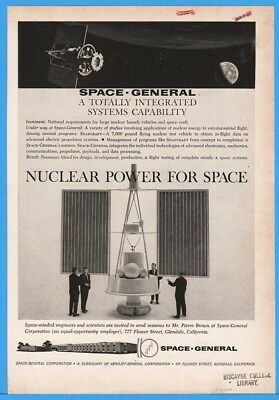 1962 Nuclear Power Spacecraft Aerojet Space General NASA ad