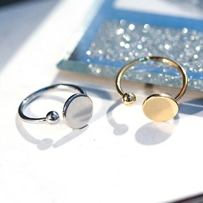 Fashion Women Jewelry Ball Round Open Finger Ring Adjustable Wedding Gift
