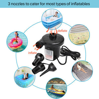 3800Pa Electric Air Pump Inflator For Inflatable Toy Boat Air Bed Mattress Pool