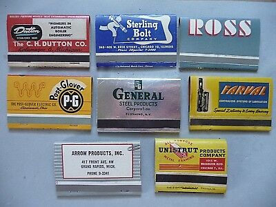 lot of full vintage assorted 36 40 strike matchbooks Industrial Manufacturing ++