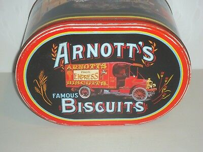 T13108  Empty Arnott's Delivery Biscuit Tin 900 G