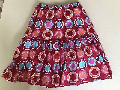 PATSY AIKEN - Chez Ami - Youth Skirt - Size 12 Red blue pink Flowers Floral