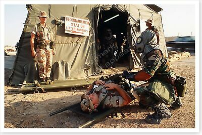 Air Force Medics Mock Casualty Exercise Operation Desert Shield 8 x 12 Photo