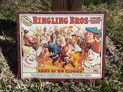 Vintage Ringling Brothers and Barnum and Bailey Sign from Norfolk, VA
