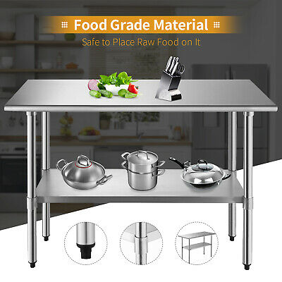 "Kenwell Commercial Stainless Steel Work Food Prep Table Kitchen 24"" x 48"""
