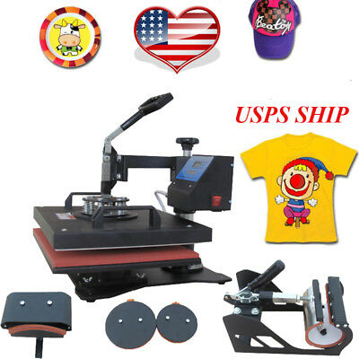 Professional 5 in 1 Heat Press Machine Swing Sublimation Multifunction T-Shirt