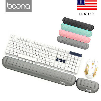 Baona Memory Foam Mouse Pad&Keyboard Wrist Rest Support for Computer&Laptop US