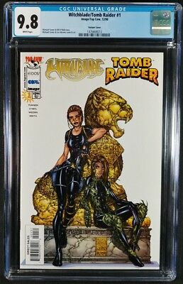 Witchblade/Tomb Raider #1 Variant Cover CGC 9.8! White Pages! (Image 1998)