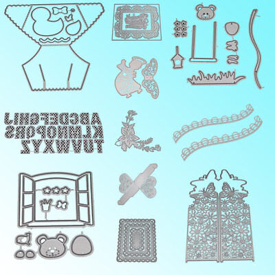 Christmas Dies Metal Cutting Stencil For Scrapbooking Paper Cards DIY Gift Decor