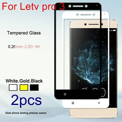 2xGenuine Anti Scratch Tempered Glass Full Screen Protector Film for Letv pro 3