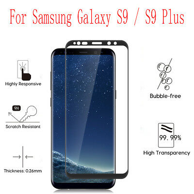 9H Full Tempered Glass Screen Protector Curved Fit for Samsung Galaxy S9 Plus