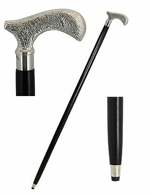 Chrome Brass Handle Black Walking Stick Cane For Men And Women With Brass Handle