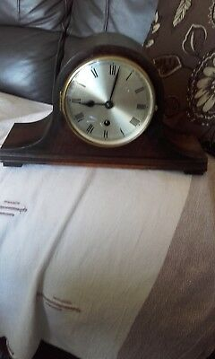 antique mantle clock single winder no chimes perfect working order